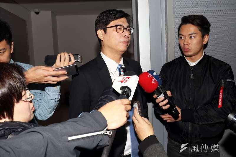 民進黨立委陳其邁參加民視舉辦的民進黨高雄市長黨內初選辯論會。(資料照/蘇仲泓攝)