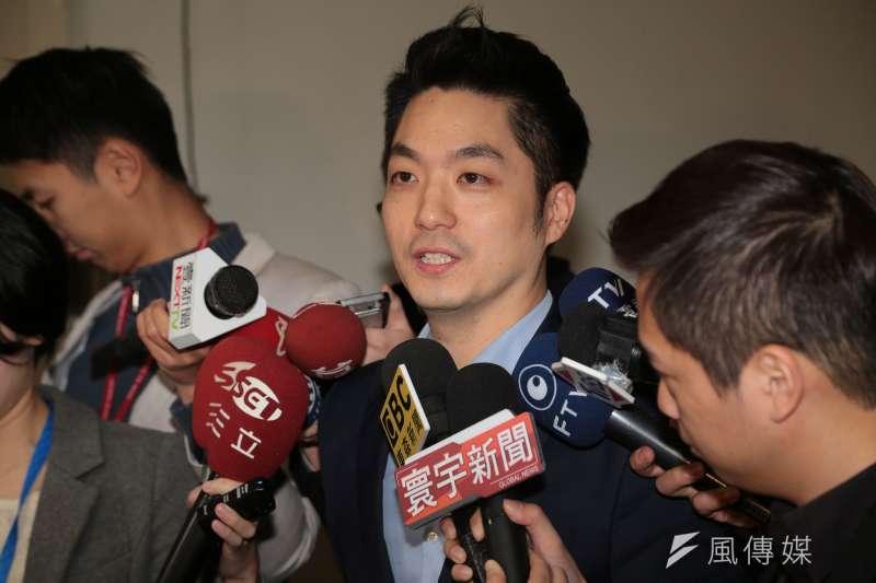 國民黨立委蔣萬安19日宣布不參選年底台北市長選戰。(顏麟宇攝)