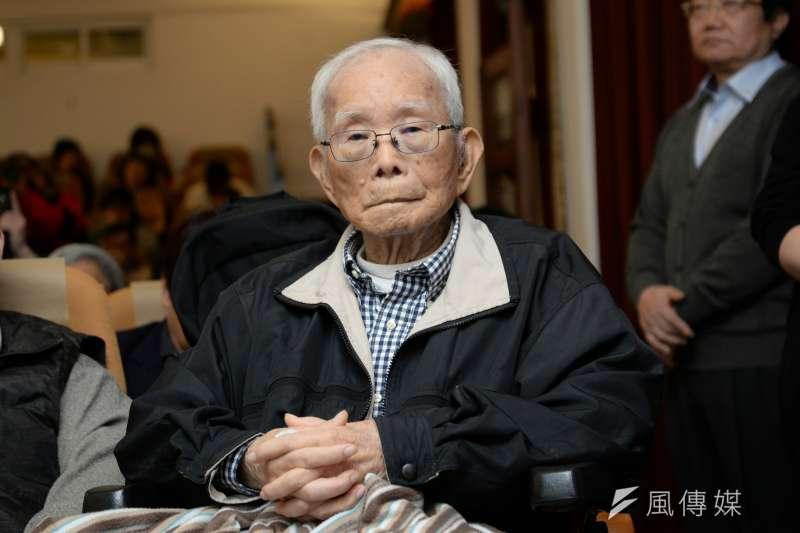 二二八事件中的抗暴戰士黃金島9日逝世,享壽93歲。(資料照,甘岱民攝)