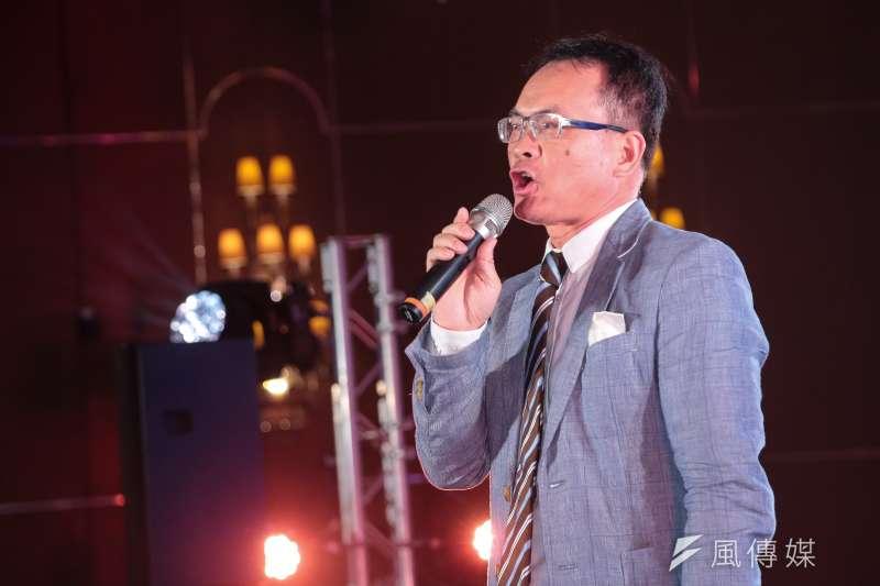20180120-鄭弘儀20日主持時代力量黨慶暨募款餐會。(顏麟宇攝)