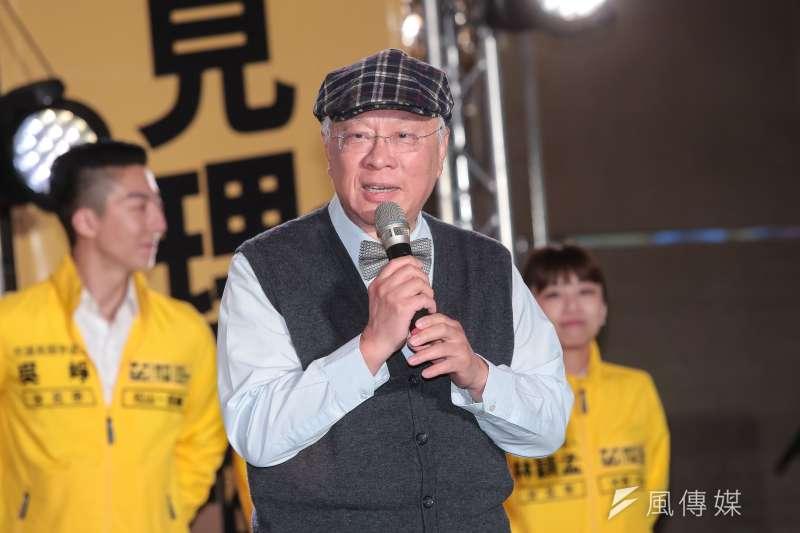 20180120-民報創辦人陳永興20日出席時代力量黨慶暨募款餐會。(顏麟宇攝)