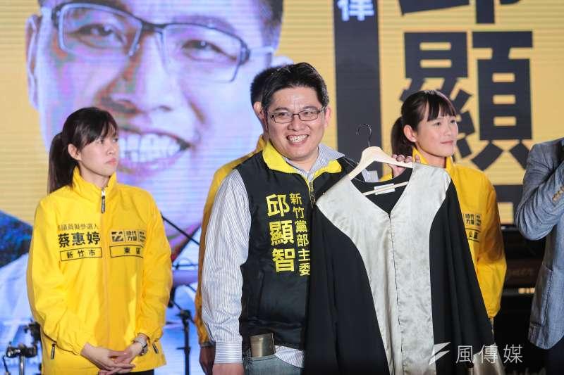 時代力量新竹黨部主委邱顯智將接任時力黨主席。(資料照片,顏麟宇攝)