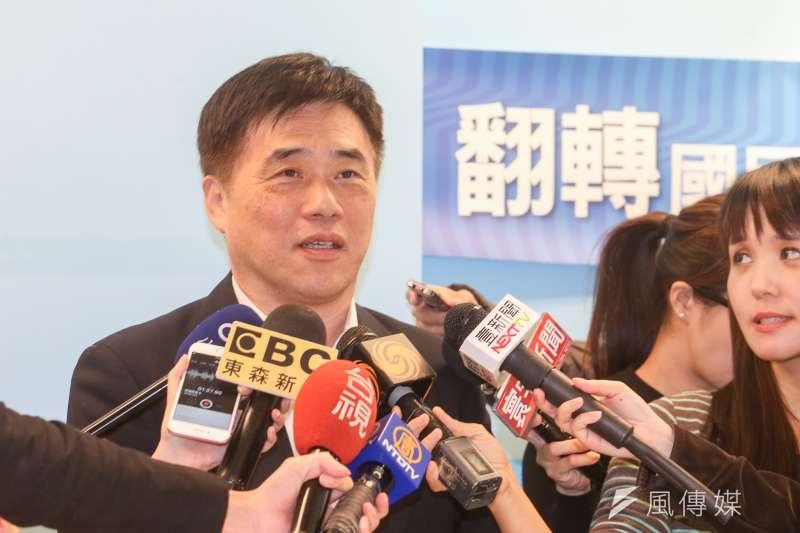 20180123-國民黨副主席郝龍斌談台北市長人選相關問題,目前和他請益市政的至少3人。(陳明仁攝)