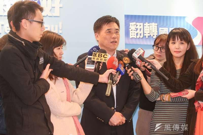 國民黨副主席郝龍斌談基隆市長選舉。(資料照片,陳明仁攝)