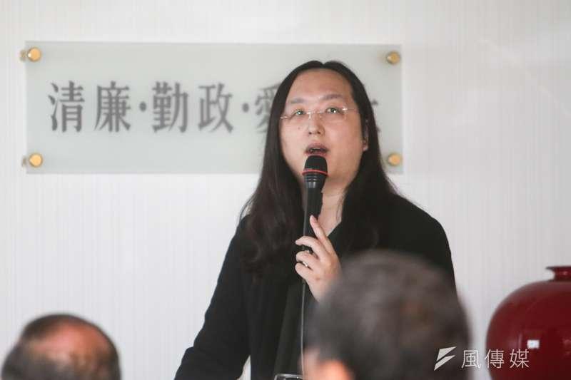 20180124-民進黨中執會,邀請行政院政務委員唐鳳專案報告「台灣社會創新的發展趨勢」。(陳明仁攝)