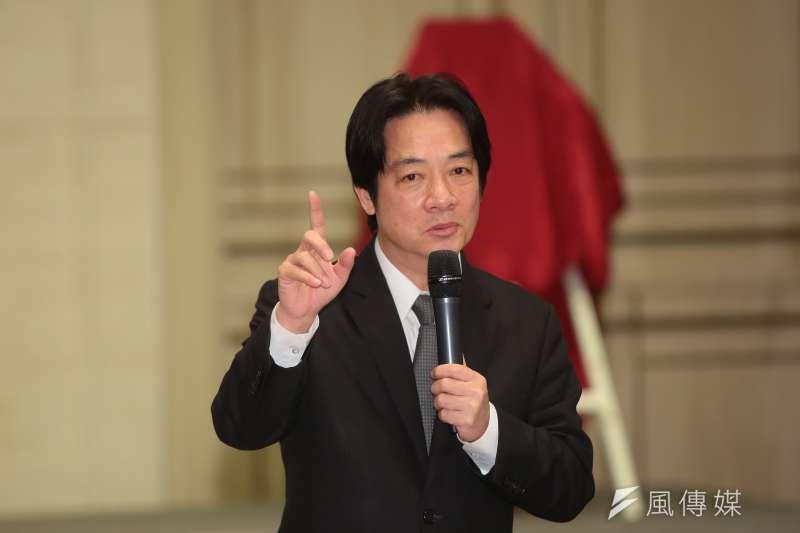 行政院長賴清德26日出席座談會,表示已正式核定「彰化市鐵路高架化」。(資料照,顏麟宇攝)