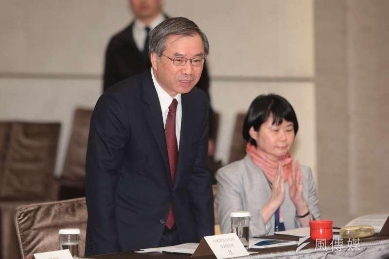 證券圈老將李啟賢(左)將接任華南永昌證券董事長。(顏麟宇攝)