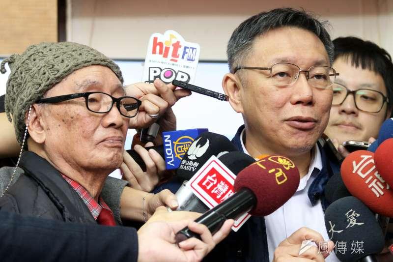 柯市府因《風傳媒》記者報導台北燈節相關新聞,而下令市府官員封殺記者採訪。(蘇仲泓攝)