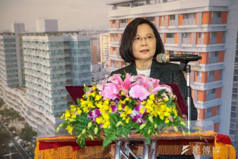 根據台灣民意基金會民調,有五成七民眾不滿意總統蔡英文處理兩岸關係。(資料照片,顏麟宇攝)