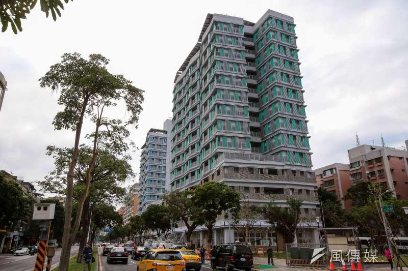 20180126-台北市健康公宅外觀。(顏麟宇攝)