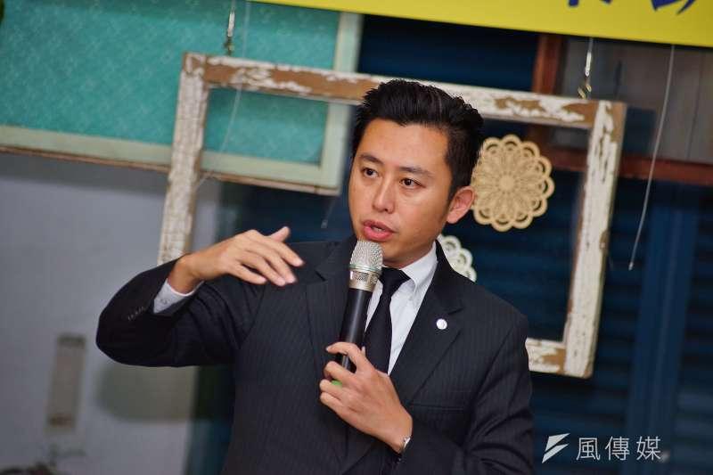 20180126-新竹市長林智堅出席東門市場音樂趴踢奈活動記者會。(盧逸峰攝)