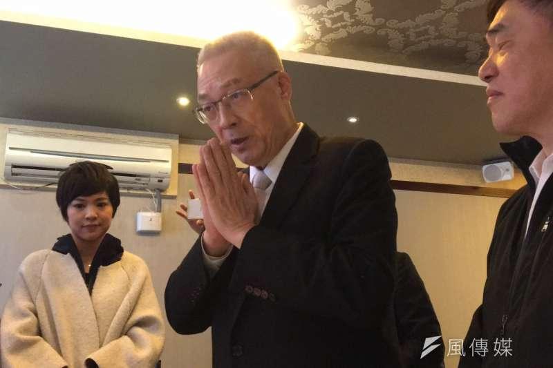 國民黨主席吳敦義提前慶祝70歲生日。(羅暐智攝)