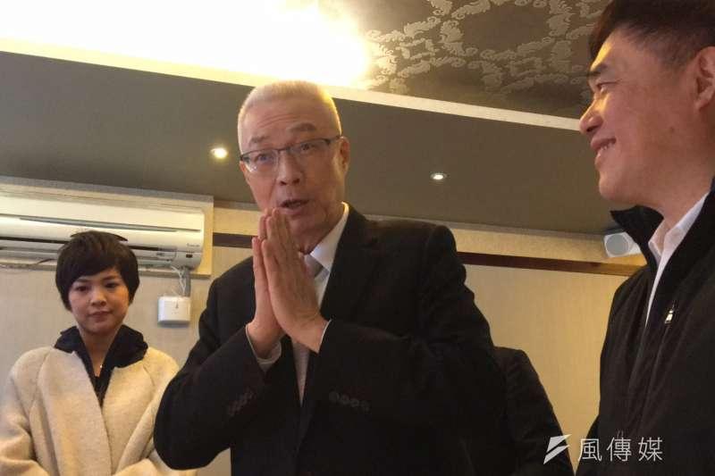 2018-01-29-國民黨主席吳敦義提前慶祝70歲生日02。(羅暐智攝)