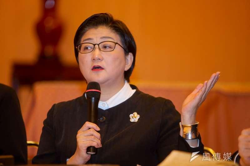 婦聯會主委雷倩表示,前主委辜嚴倬雲提的自殺式資產全捐建議,「絕對是辜家其他人的縝密規劃。」(資料照,陳明仁攝)
