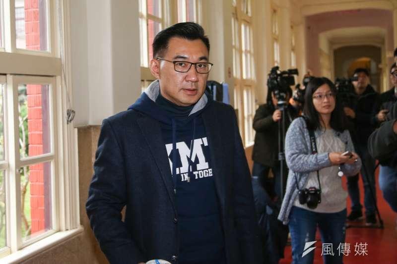 國民黨立委江啟臣宣布停止競選活動。(資料照片,陳明仁攝)