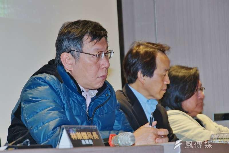 台北市長柯文哲的新聞度量實在有限。(盧逸峰攝)