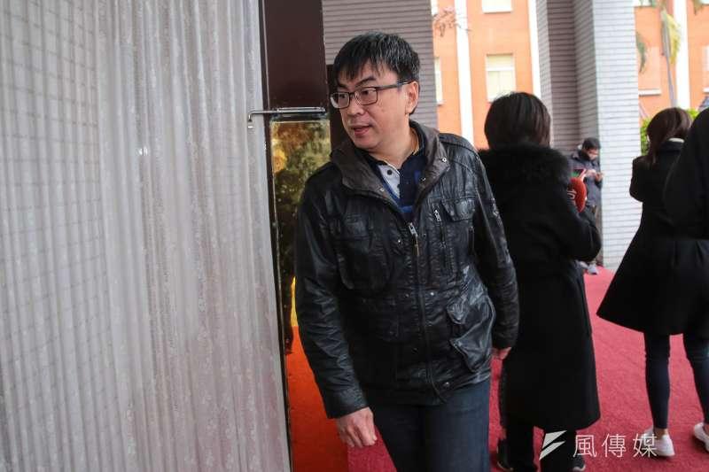 20180130-民進黨立委段宜康30日於立院接受媒體聯訪。(顏麟宇攝)