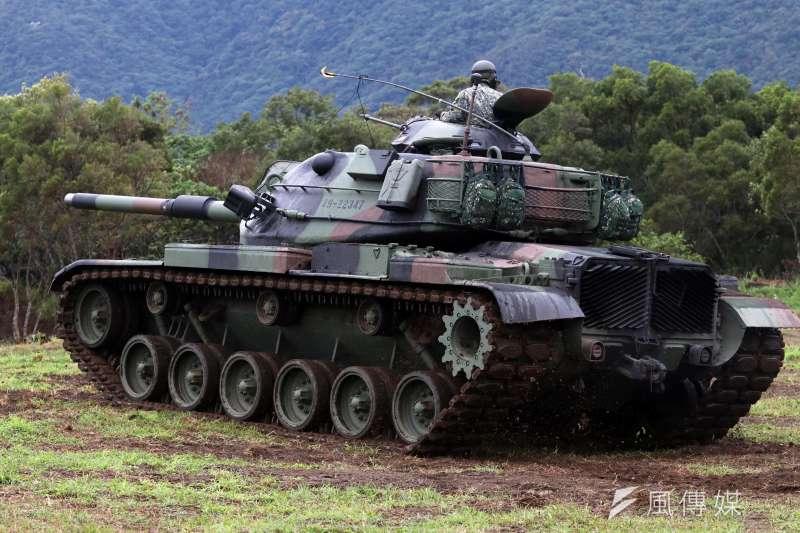 20180131-107年國軍春節加強戰備,圖為陸軍花防部M60A3戰車。(蘇仲泓攝)