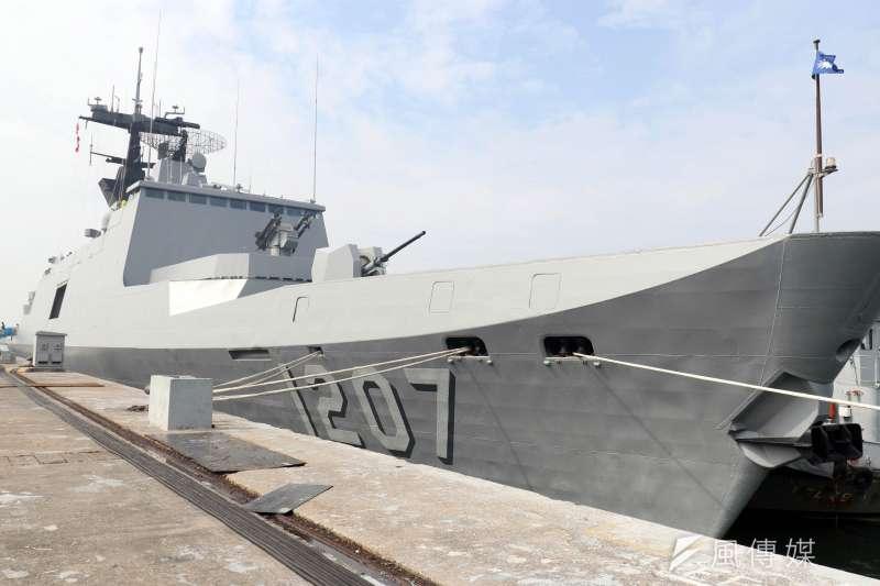 海軍有意重新向法方採購拉法葉艦作戰系統,金額評估高達千億新台幣。(蘇仲泓攝)