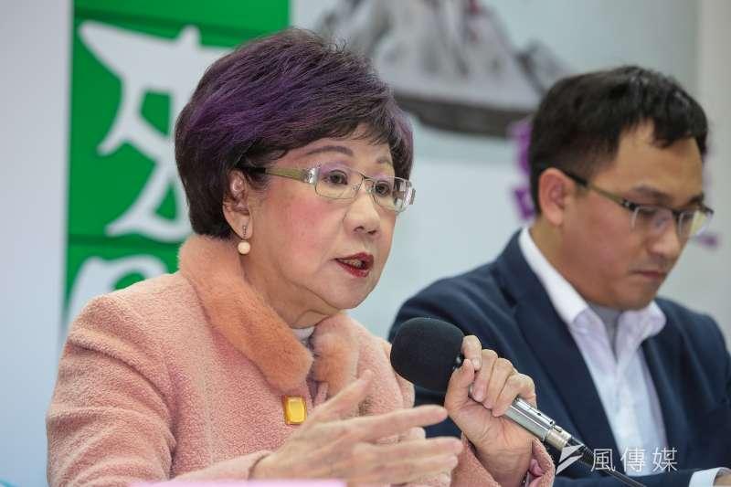 前副總統呂秀蓮1日召開「少年人來開講」座談會。(顏麟宇攝)