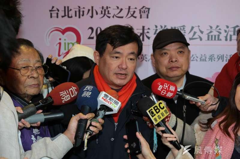 20180203-民進黨秘書長洪耀福3日出席台北市小英之友會「歲末送暖公益活動」。(顏麟宇攝)