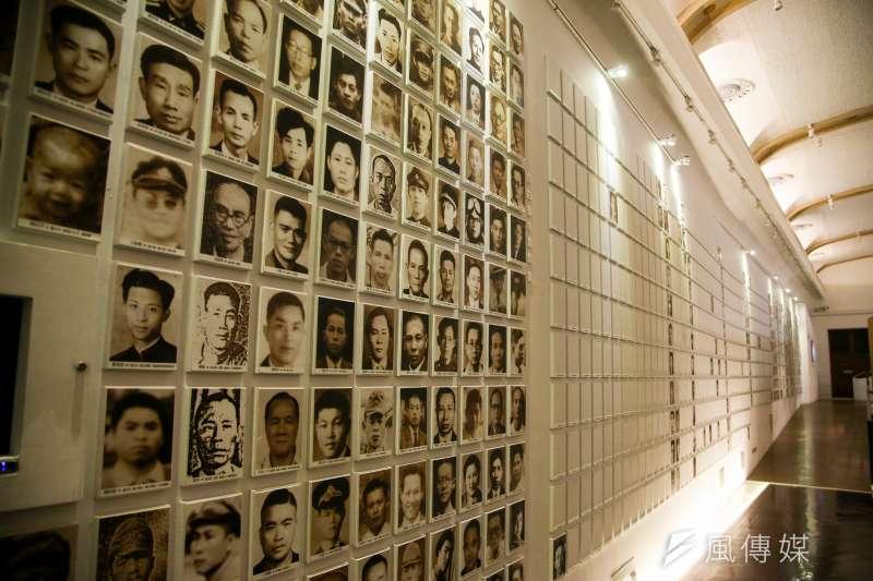 二二八紀念館,罹難者之悲牆。(陳明仁攝)