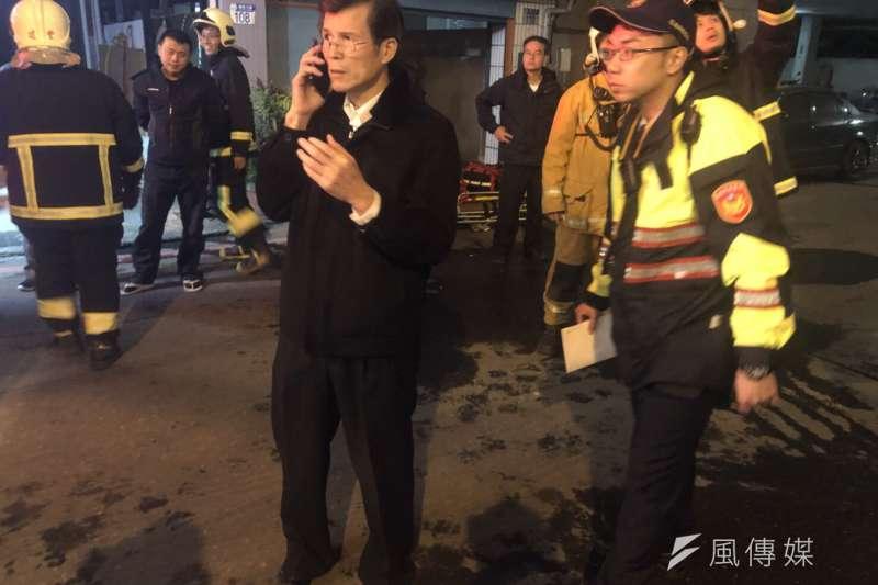 花蓮6日深夜發生規模6.0強震,災情慘重,警政署長陳家欽已指示警力分組行動,提高救災效率。(警政署提供)
