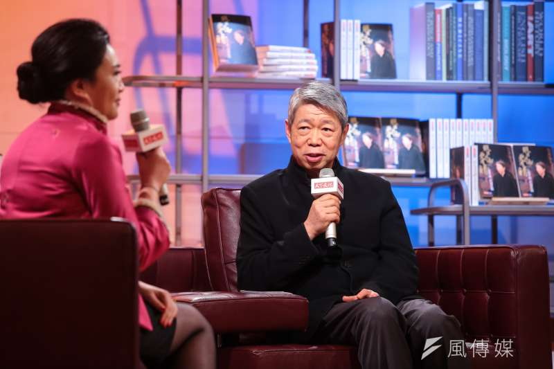 TVBS董事長張孝威出席「縱有風雨更有晴:張孝威直說直做」新書發表會。(顏麟宇攝)