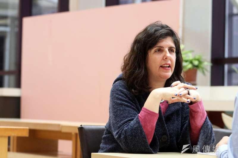 以色列文壇最高殊榮得主作家、《軟禁》作家葉德林專訪。(蘇仲泓攝)