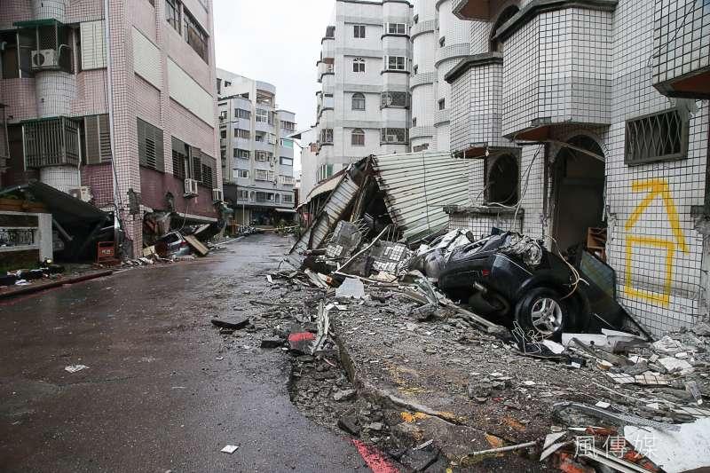 20180208-「0206」花蓮地震,經濟部地調所研判,並非八崙斷層引發。(資料照片,陳明仁攝)