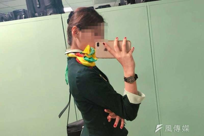 轉眼間4年過去,成為空姐的FIKA飛越無數國家,談到在這個行業裡學會的特殊技能,她說,是分離。(受訪者提供)