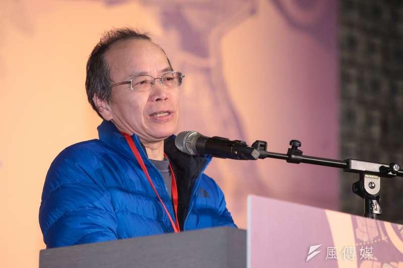 行政院政委張景森12日出席「公私協力改革都更效能」論壇。(顏麟宇攝)