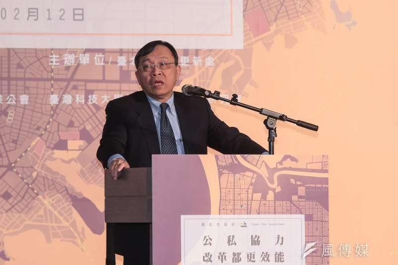 20180212-台灣銀行董事長呂桔誠12日出席「公私協力改革都更效能」論壇。(顏麟宇攝)