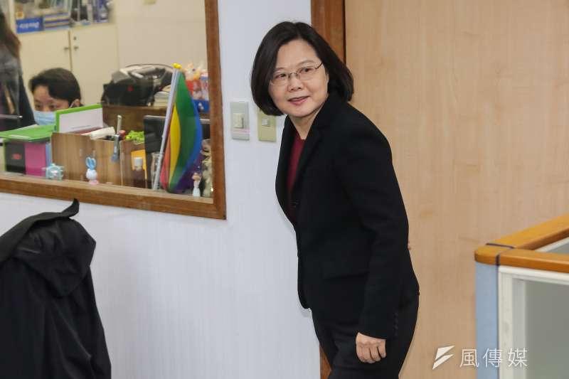 總統蔡英文21日出席民進黨中執會。(顏麟宇攝)