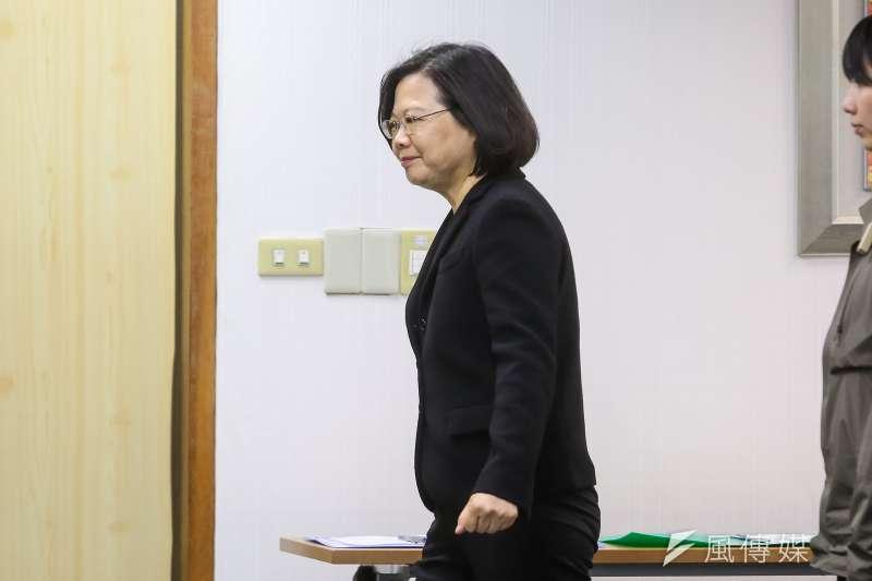 20180221-總統蔡英文21日出席民進黨中執會。(顏麟宇攝)