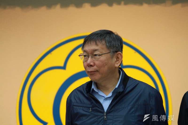 姚文智要以「台灣是唯一的祖國」力拚台北市長柯文哲。(方炳超攝)