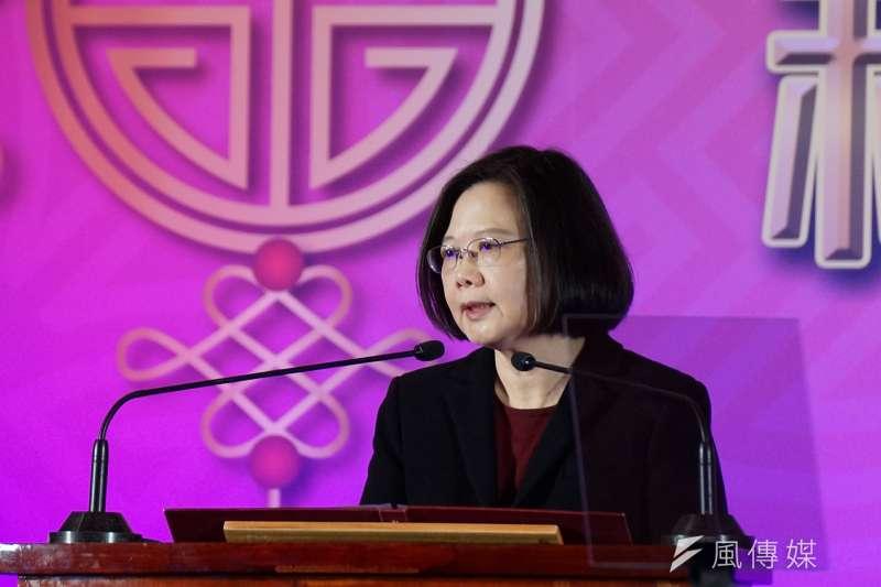 大陸台商春節聯誼活動,總統蔡英文出席。(盧逸峰攝)
