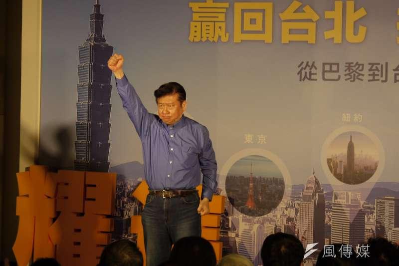 20180221-陸委會前副主委張顯耀宣布參選台北市長。(周怡孜攝)