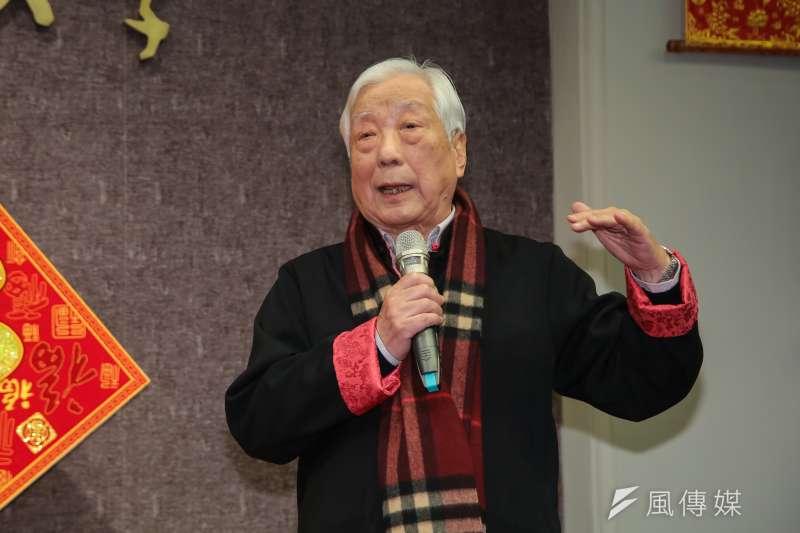 20180222-前台大校長孫震22日出席台大春節團拜。(顏麟宇攝)