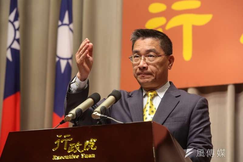 行政院發言人徐國勇今(23)日下午召開記者會,宣布內閣改組名單。(資料照,顏麟宇攝)