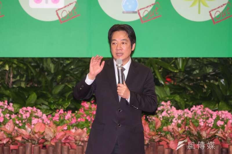 行政院長賴清德23日出席「安居緝毒方案成果說明暨頒獎典禮」。(顏麟宇攝)