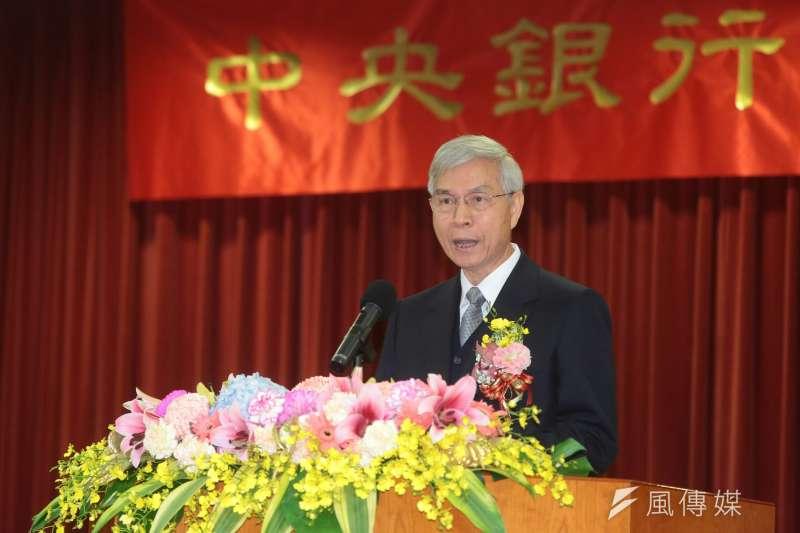 央行新舊任總裁交接典禮,楊金龍致詞。(顏麟宇攝)