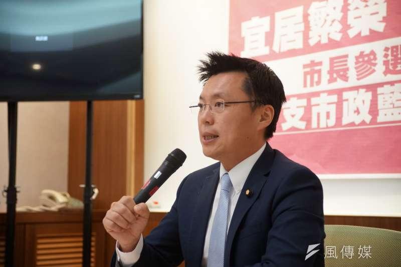 立委趙天麟召開市政藍圖影片公布記者會(盧逸峰攝)