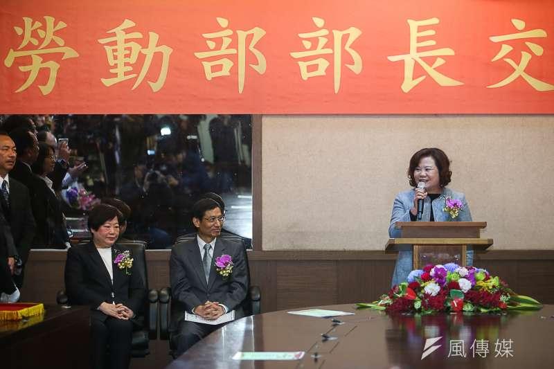 2018-02-26-勞動部長交接,新任勞動部長許銘春。(陳明仁攝)