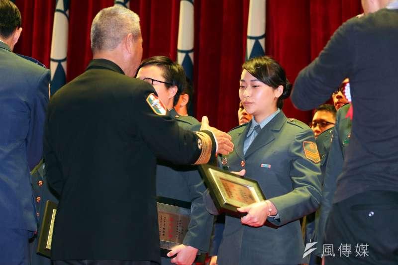 國防部兵役節慶祝大會暨頒獎典禮。(蘇仲泓攝)