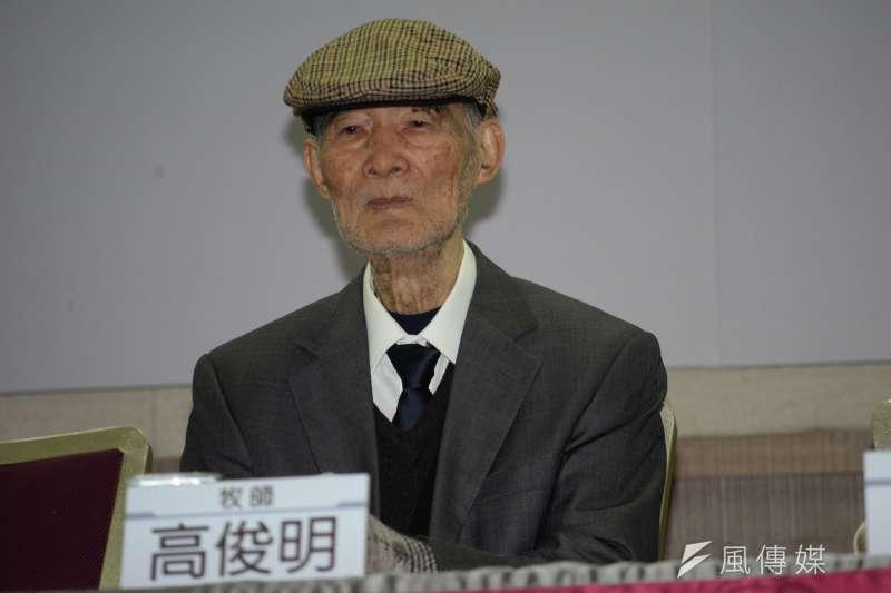 長老教會牧師高俊明於14日下午5點逝世,享壽89歲。(資料照,甘岱民攝)
