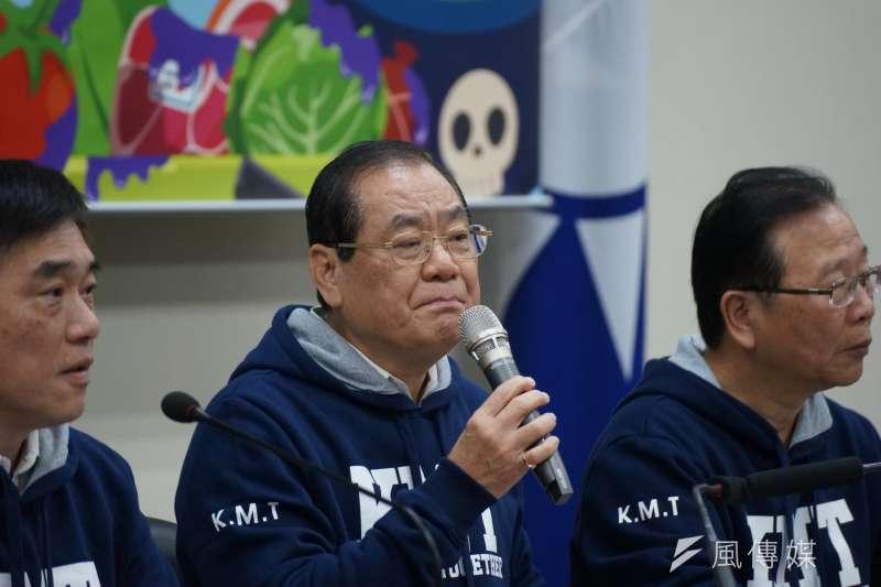 20180301-國民黨召開反核食反空污記者會,秘書長曾永權發言。( 盧逸峰攝 )