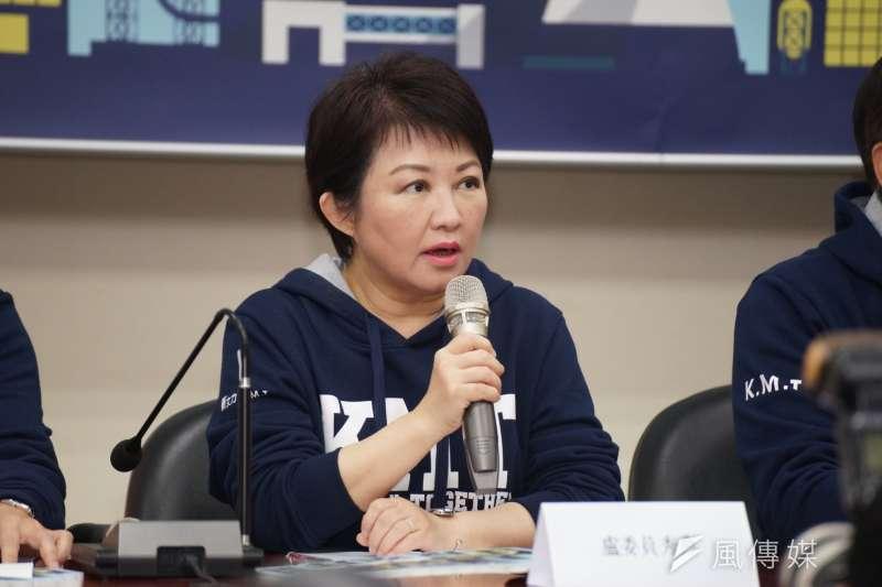 20180301-國民黨召開反核食反空污記者會,立委盧秀燕發言。( 盧逸峰攝 )