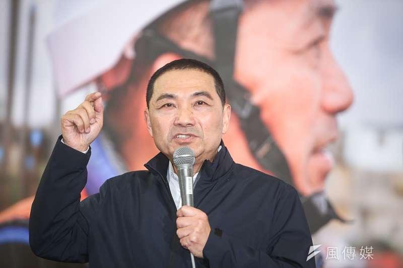 侯友宜參選新北市長說明記者會。(陳明仁攝)