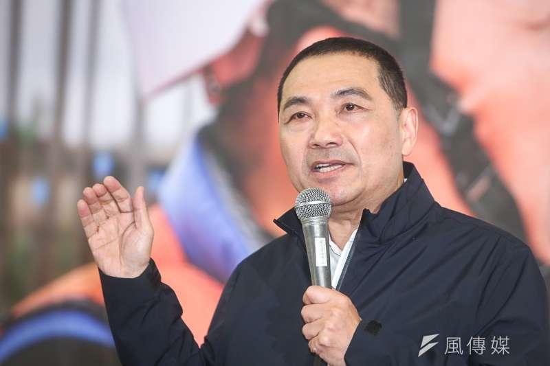 侯友宜參選新北市長,鄭南榕案成為攻擊他的砲彈。(陳明仁攝)
